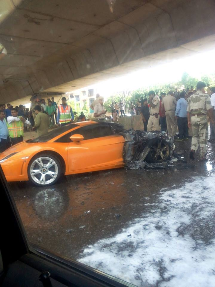 Lamborghini Gallardo Fire Accident Details Cause In New Delhi
