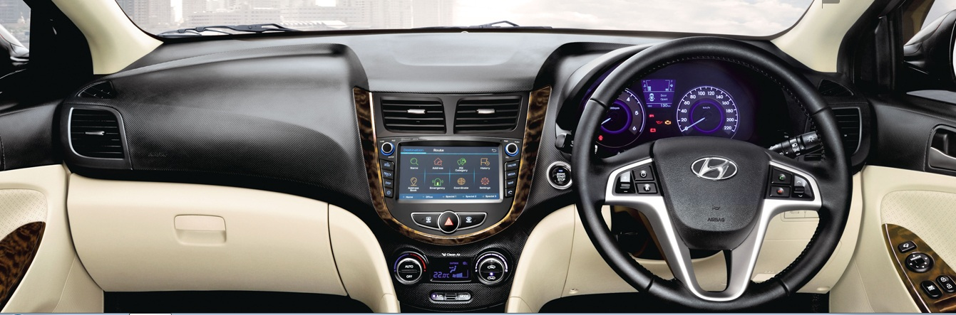 Hyundai Fluidic Verna 2016 Interiors