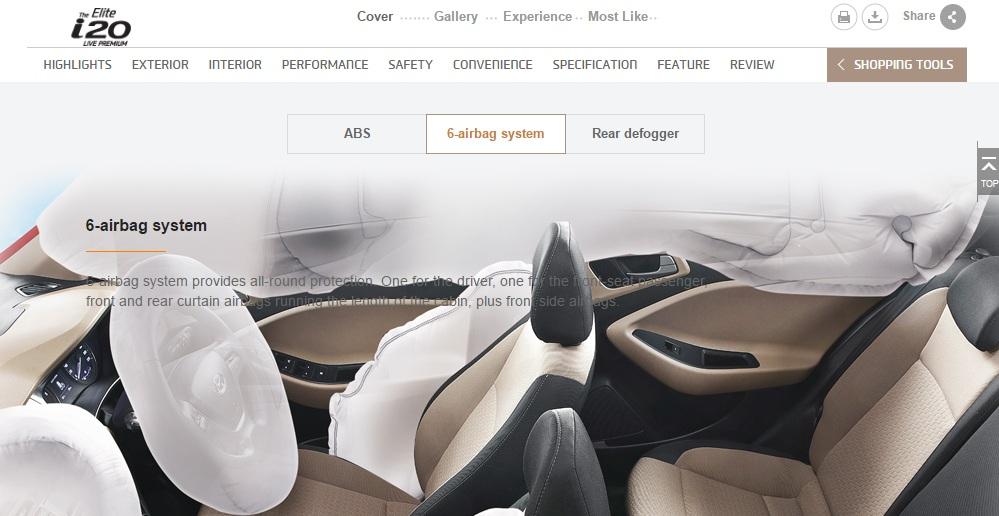 Hyundai I20 Airbags