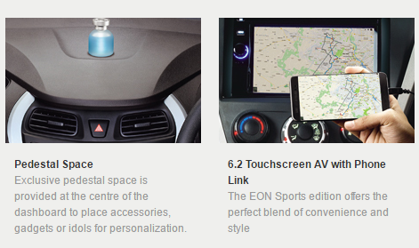 Hyundai Eon Gets 62 Touchscreen Music System In Sports Era Magna