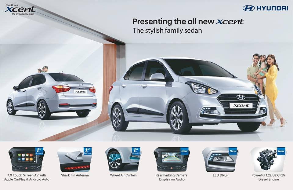 Hyundai Xcent Facelift Changes, Features, Prices of E,E+,S,Sx Car