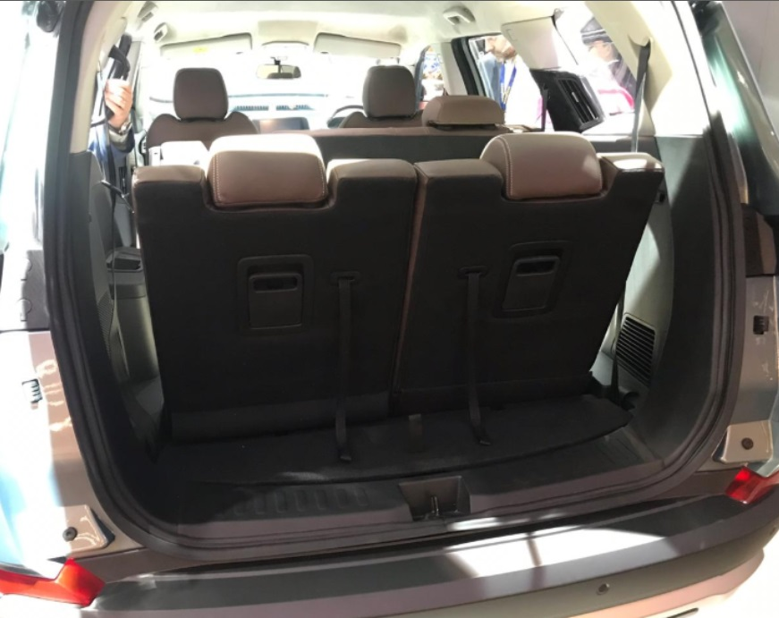 Harrier 7 Seater Boot Space