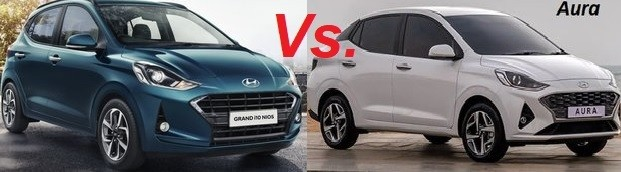 Hyundai Grand i10 Nios Vs Aura. Top 5 Differences for Best Value