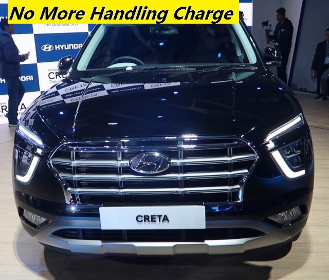 Hyundai removed Handling Charge, Logistic Charge on Car Range