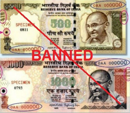 Rs 500 and Rs 1000 Notes Banned from Tonight to Curb Black Money in India