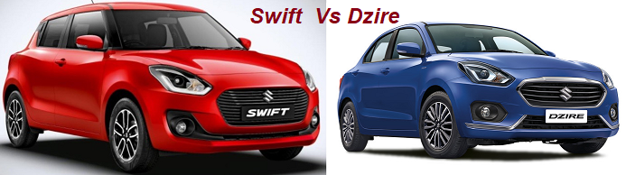 Maruti Swift 2018 Facelift Vs Dzire. Review Differences with Best Buy