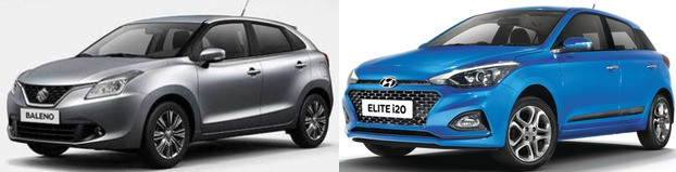 Maruti Baleno Vs Hyundai Elite I20 2018 Facelift Model. Review Best Buy Premium Hatchback
