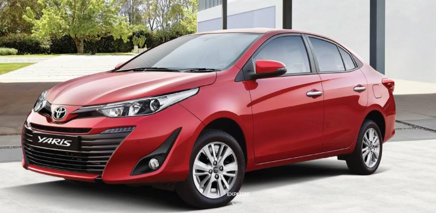 Toyota Yaris J, G, V, Vx Model Variant Price, Feature Differences in India