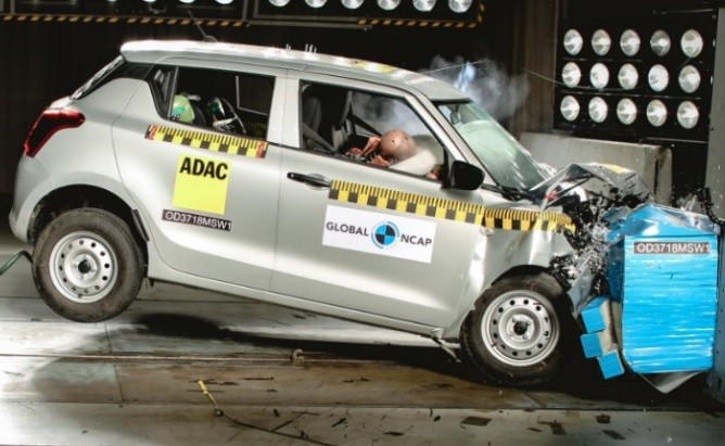 Maruti Suzuki Swift 2018 got 2 Star in NCAP Crash Test Rating. Result Explained