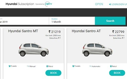 Hyundai Subscription Plan Review to Own New Car Creta, Santro, I20, Verna, Grand i10