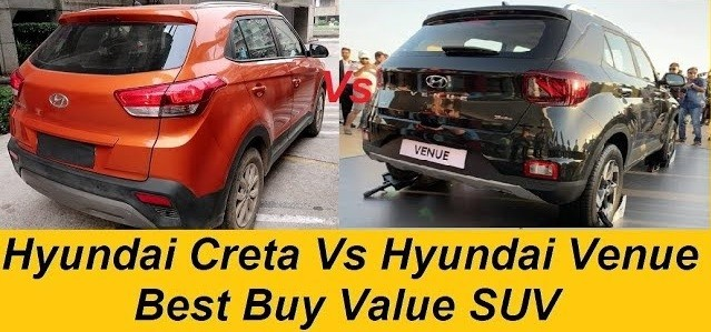 Hyundai Venue Vs Hyundai Creta Petrol. Compare 1.0 Turbo to 1.6 VTVT Egine