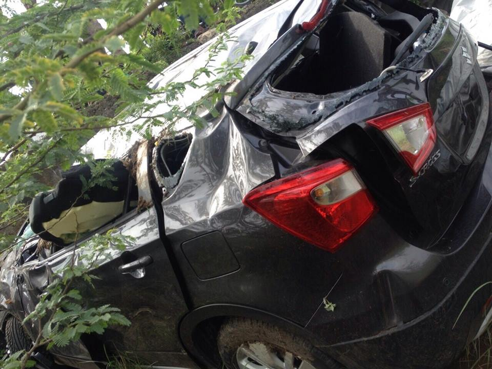 Maruti Nexa S Cross Test Drive Vehicle Meets Accident Pictures
