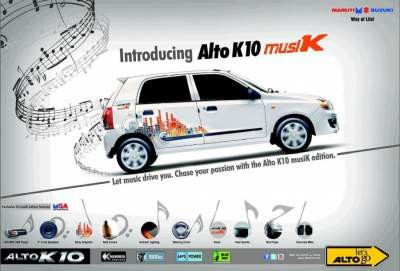 Maruti Alto K10 Music Edition Features.Review Alto Musik Edition
