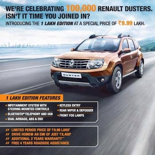 Renault Duster Special Celebration Edition on 1 Lakh Duster Sold